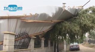 Ураган в Сынжерее принес разрушения.