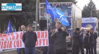 Митинг партии «Выбор Молдовы»в Бельцах, против снятия правительства