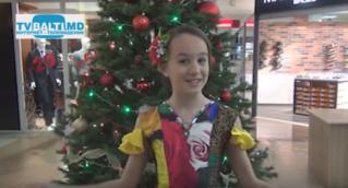 Новогоднее поздравление от Дарьи Швец ,воспитанницы театра» Менестрели»-Бельцы