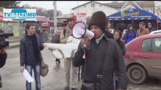 Протест ромов против дискриминации  в Бельцах