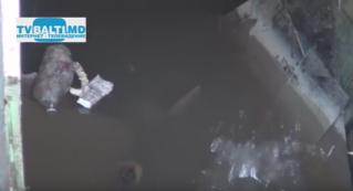 Затопленные подвалы гаражей в ГСК последствия урагана в Бельцах
