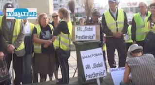 Забастовка работников по уборке территорий Бельц