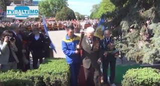 Торжественная церемония Зажжения Вечного Огня в Бельцах к 70-летию Великой Победы