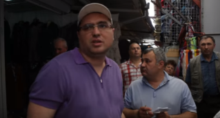 Встреча Ренато Усатого с продавцами рынка по ул. Байдукова