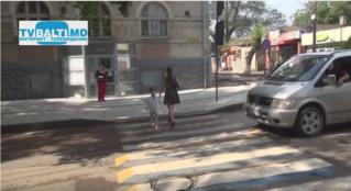В Бельцах появились 3D пешеходные переходы.