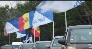 Ударный автопробег «Нашей Партии»: 100 машин прошли по маршруту Кишинев-Шерпены