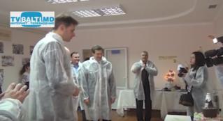 К Лучинский присутствовал на открытии лаборатории проф.тех.училища Бельц