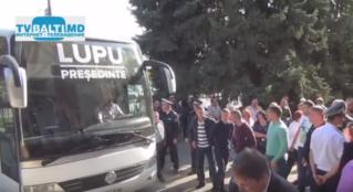 Акция протеста партии» Наша Партия» против кандидата в президенты РМ-М. Лупу