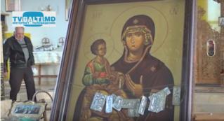 Икона Божией Матери Троеручицы из Греции прибыла в Бельцы