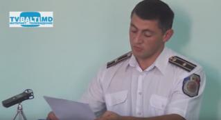 С Бежан :Отчет о работе инспектората полиции Бэлць