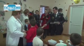 Благотворительная помощь детскому дому от инспектората полиции Бэлць
