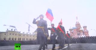 Марш в честь 75-й годовщины военного парада 1941 года