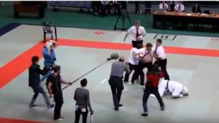 Судья вырубил бойцов. Не шути с судьей )