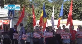 Митинг партии ПСРМ против унионистов
