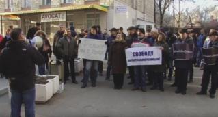 Митинг у здания рышканского суда в поддержку Феликса Гринку. 06.12.2016