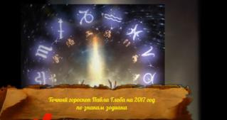 Точный гороскоп Павла Глоба на 2017 год по знакам зодиака