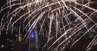 Новогодний салют в Бельцах с высоты птичьего полета