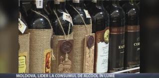 Moldova, lider la consumul de alcool în lume