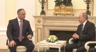 Встреча президента РМ И.Додона с президентом РФ В.Путиным