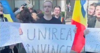 Унионисты вывели на протест несовершеннолетних школьников