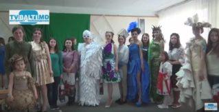 Конкурс -дифеле платьев из бумаги -2017 в Бельцах
