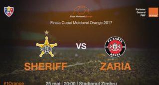 Finala Cupei Moldovei Orange 2017 — FC Sheriff — FC Zaria