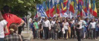 Акция протеста «За свободную Молдову» в Комрате, организованная «Нашей партией». 20.05.2017