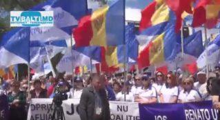 Акция протеста» За Свободную Молдову»организованной партией «Наша Партия» в Бельцах