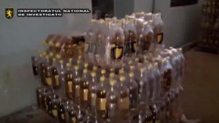 Schemă frauduloasă de contrafacere a băuturilor alcoolice, deconspirată