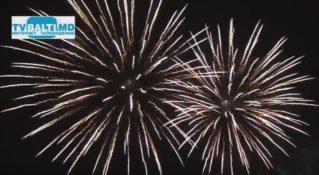 Праздничный салют в Бельцах посвященный 26 годовщине Дня независимости РМ