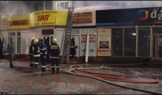 В Бельцах сгорел магазин Дарвин
