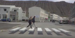 В Исландии появился «парящий» пешеходный переход