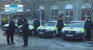 5 новых машин для Бельцкого инспектората полиции