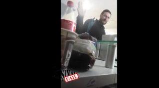 «Сancer de cap!» Проклинал сотрудников заправки в Кишинёве пьяный мужчина в церковной одежде