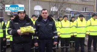 Бельцкий инспекторат полиции получил светоотражающий комплект для патрулирования в ночное время