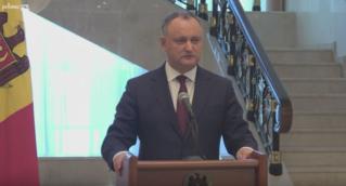 Briefing de presă susținut de președintele Republicii Moldova, Igor Dodon, cu pr…