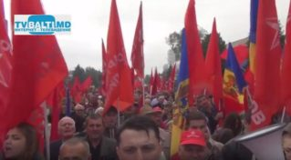 Митинг ПСРМ за проведение референдума