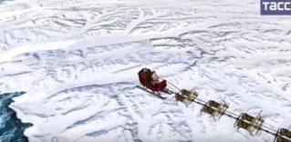 Как Санта Клаус пролетел над Северной Америкой